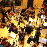 Orchestral recording in the Main Studio