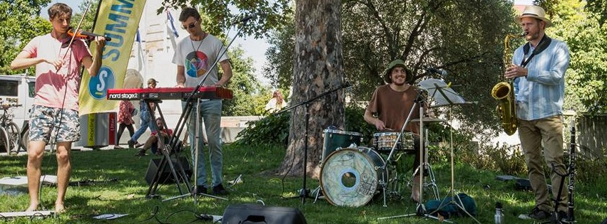 Yurt Party playing at CCC Summertimes concert series